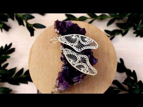 ~ Butterfly ~ Russian filigree earrings, 925 silver