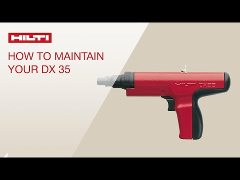 HOW TO clean and maintain your Hilti powder-actuated tool DX 35