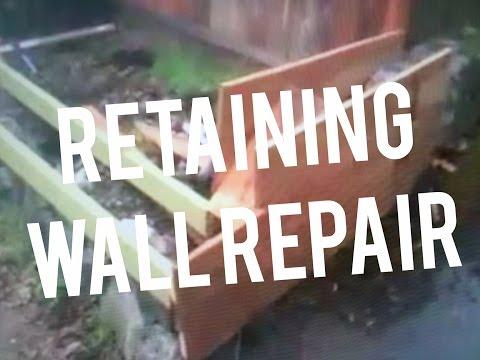 Repair Stone Concrete Retaining Wall Corner Rebar Dowel Epoxy How to