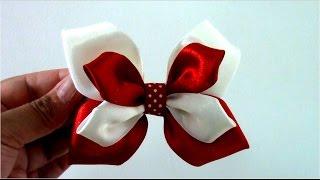 Moños Mariposa de dos colores en cintas para el cabello