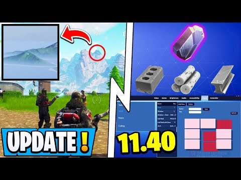 *NEW* Fortnite Update! | 11.40 News, New Material, LIGHT Turned On!
