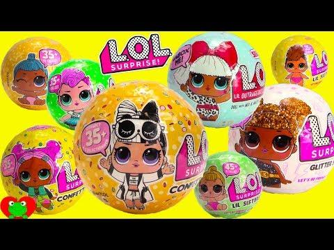 LOL Surprise Series 1, 2, 3 Confetti Pop Glitter And Lil Sisters RARE Find