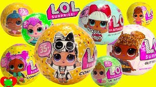 LOL Surprise Series 1, 2, 3 Confetti Pop Glitter and Lil Sisters RARE Find