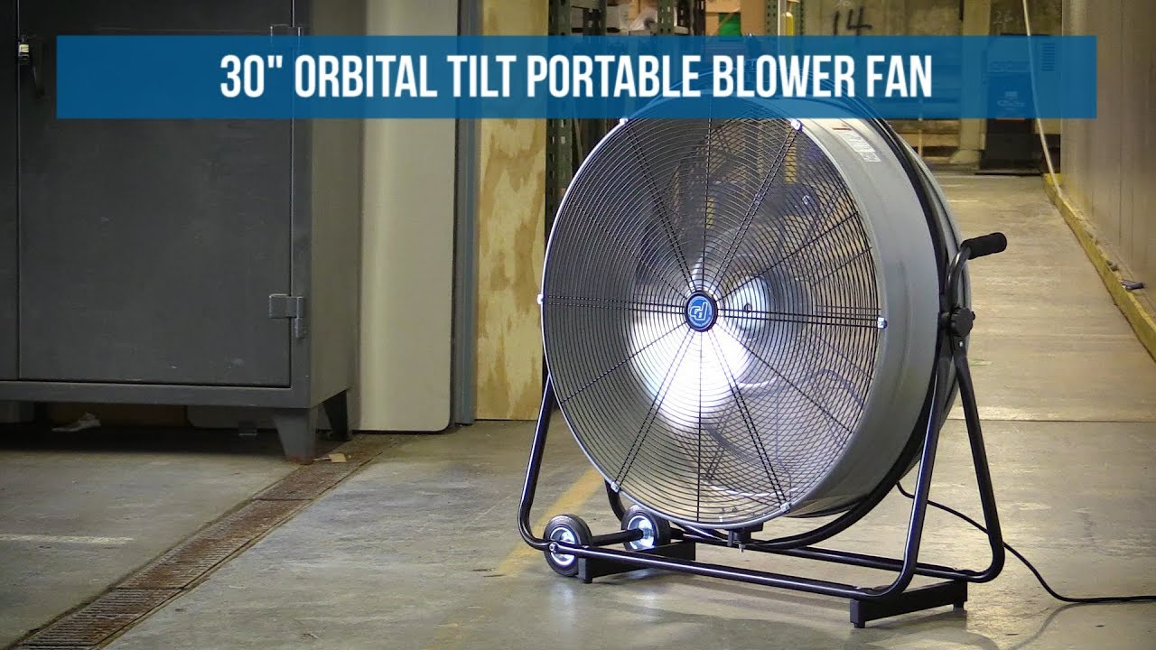 30 Inch Orbital Tilt Portable Blower Fan   Direct Drive