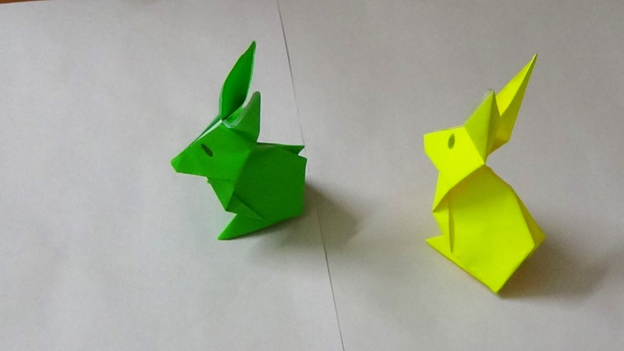 Simple origami art how to make an origami rabbit youtube simple origami art how to make an origami rabbit jeuxipadfo Image collections