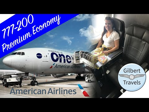 Premium Economy American Airlines 777-200 Flight Review Paris To Miami