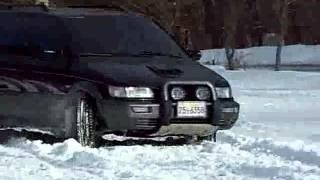 싼타모 달궁주차장 눈밭에서 주행 테스트. Hyundai…