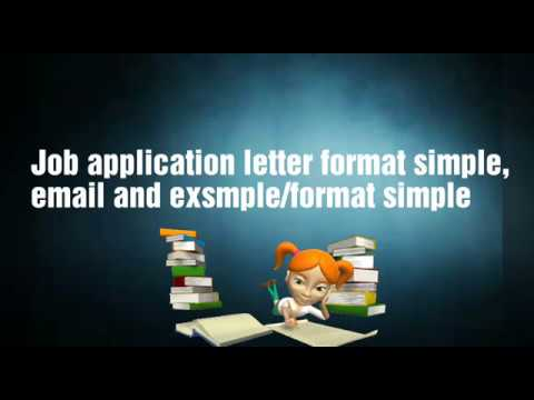 Job application letter format simple,email and examples/ format ...
