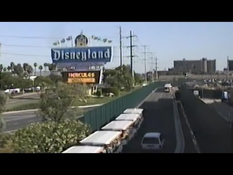 Disneyland Monorail 1998 Ride w/ Views of Disney's California Adventure Construction, Original Sign
