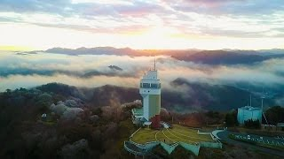 4K Time Lapse & Aerial Movie of the sea of cloud on Maizuru