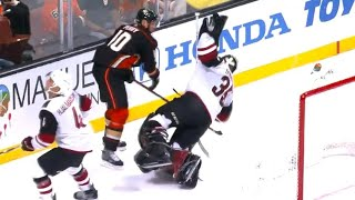 Domingue furious at Perry after taking shoulder to the head