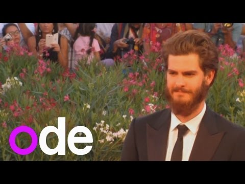 Andrew Garfield shows off bushy beard at Venice Film Festival
