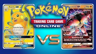 Raichu GX / Pachirisu vs Random Decks - Pokemon TCG Online Game Play