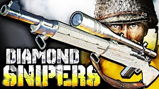 COD WW2: DIAMOND SNIPERS UNLOCKED! (Road to Chrome Camo in Call of Duty WWII)