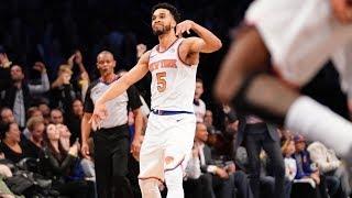 Kristaps Porzingis Injury, Courtney Lee 27 Points Knicks vs Nets 2017-18 Season