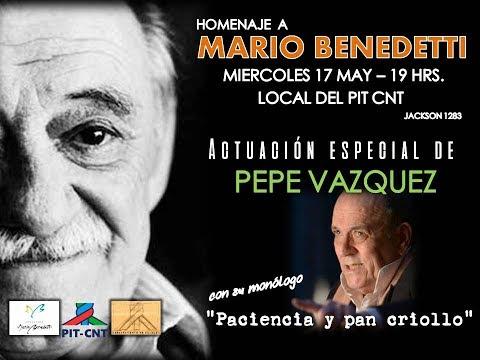 PIT-CNT Homenaje a Mario Benedetti 17-5-2017