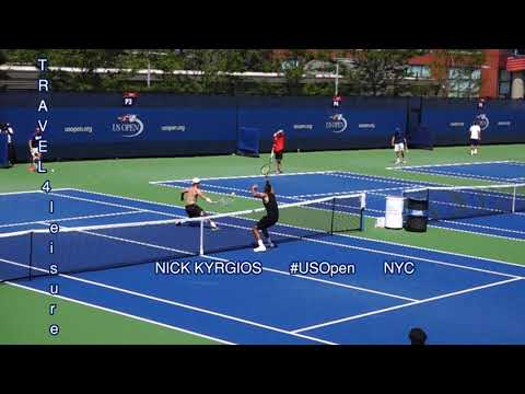 Aussie NICK KYRGIOS 🎾 The MARADONA of the 2017 US Open in  🗽 New York City ( HD)