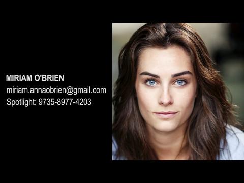 Miriam OBrien Actors showreel 2017