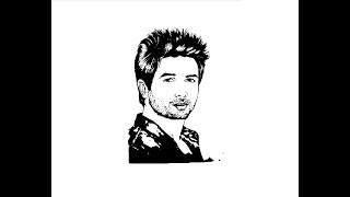 How to Draw Shahid Kapoor face pencil drawing step by step