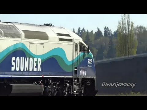 Sounder Train Rush Hour! 8 Fast Trains in 2 Minutes!