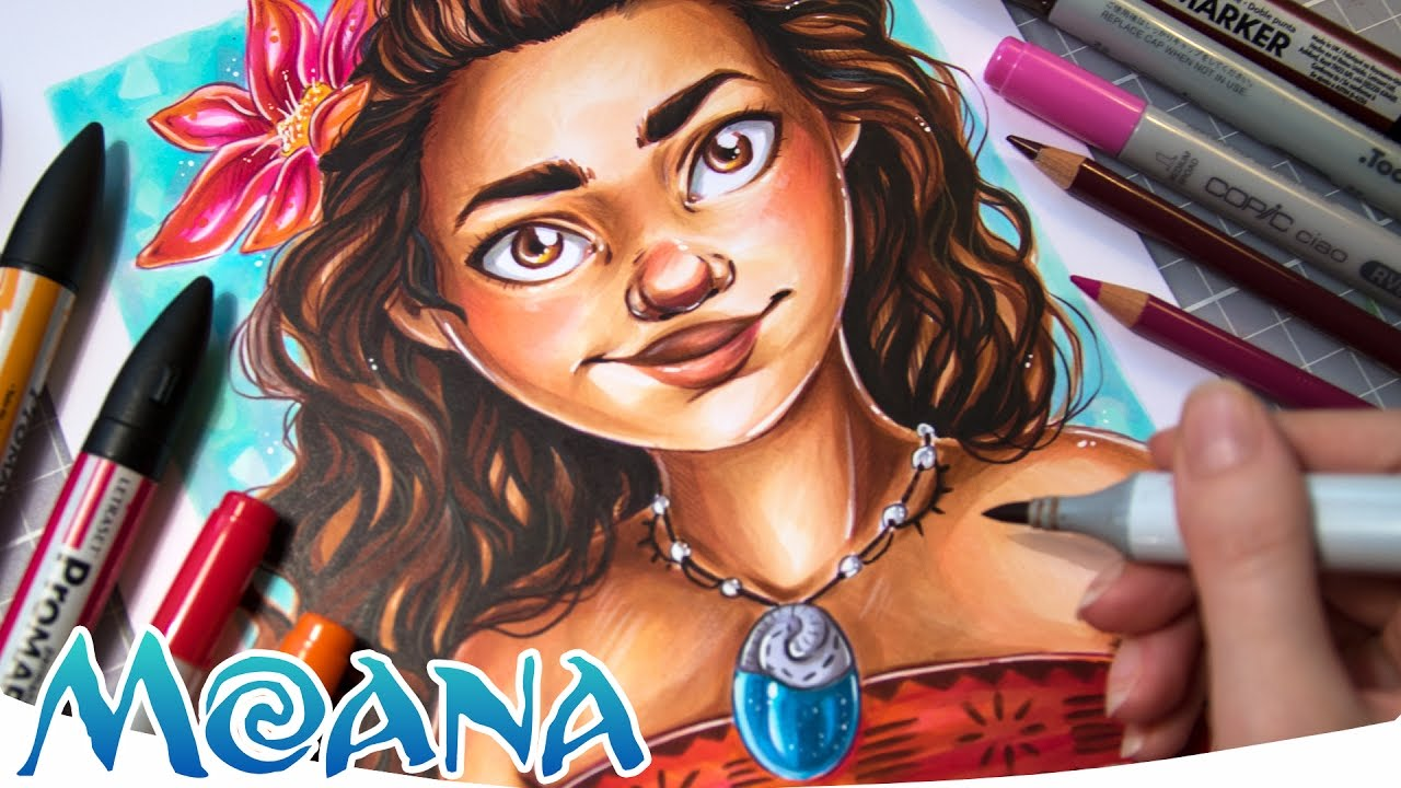 Drawing Disney S Moana Copic Promarker Illustration Youtube