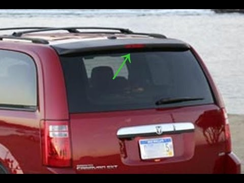 Chrysler Town Country Dodge Grand Caravan 2008 2013 High Mount Break Stop Light Replace Youtube