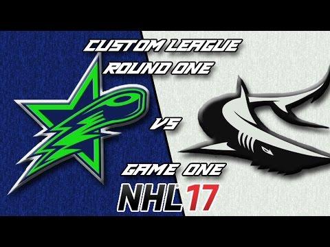 NHL 17 - Custom League - Victoria @ Seattle Round 1 Game 1