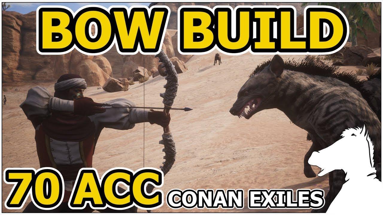 BOW BUILD OR 70 Accuracy Archer Stat Build | CONAN EXILES