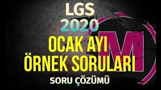LGS OCAK Ayı Örnek Sorular 2020 MEB Matemetik