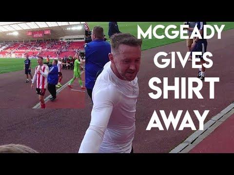 Aiden McGeady Gives Shirt Away To Young Fan: Sunderland 3-1 Wimbledon Vlog.