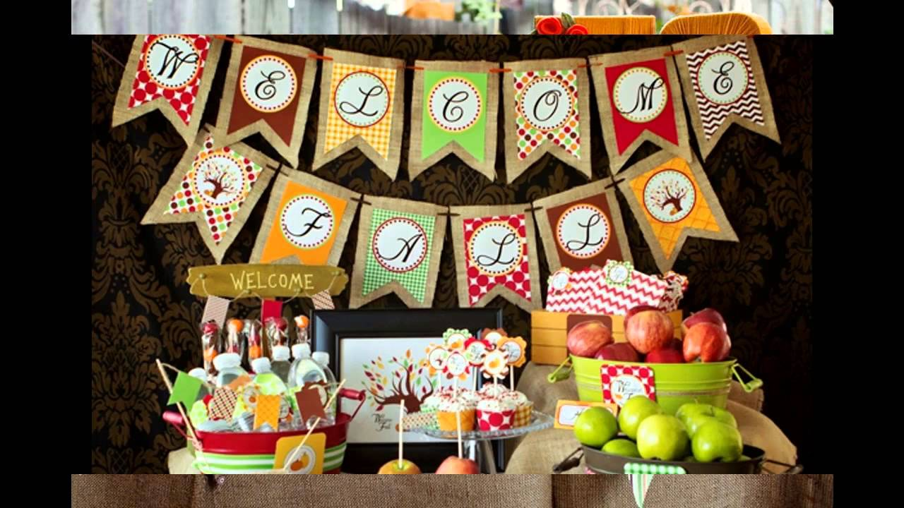 Autumn birthday party decorating ideas youtube for Autumn party decoration ideas