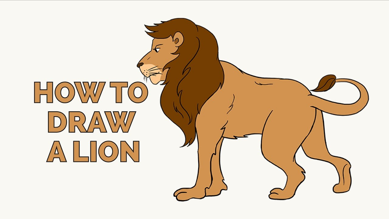 How to Draw a Lion - Easy Step-by-Step Drawing Tutorial ...