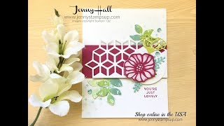 How to create a focal point with die cuts using Stampin Up products with Jenny Hall