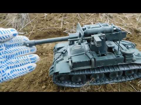 M56 Scorpion из пластилина! попытка снять хорошее видео