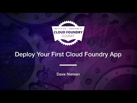 Deploy Your First Cloud Foundry App