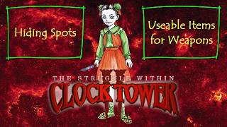 Clock Tower II - The Struggle Within - Hiding Spots - PlayStation