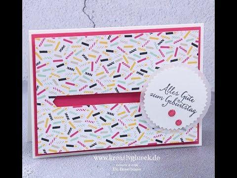 Tutorial, Anleitung Kullerkarte zum Geburtstag