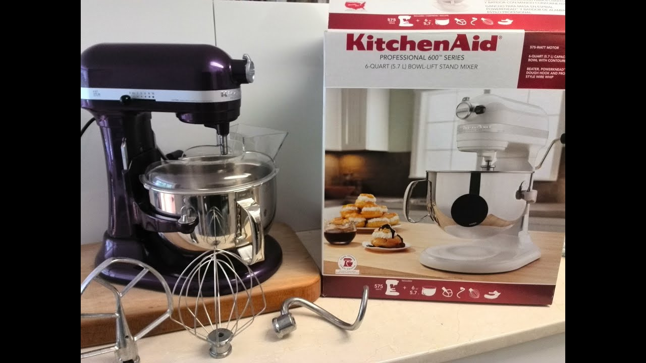 Unboxing KitchenAid Professional 600 Series 6 Quart (5.7L) Bowl Lift Stand  Mixer   YouTube