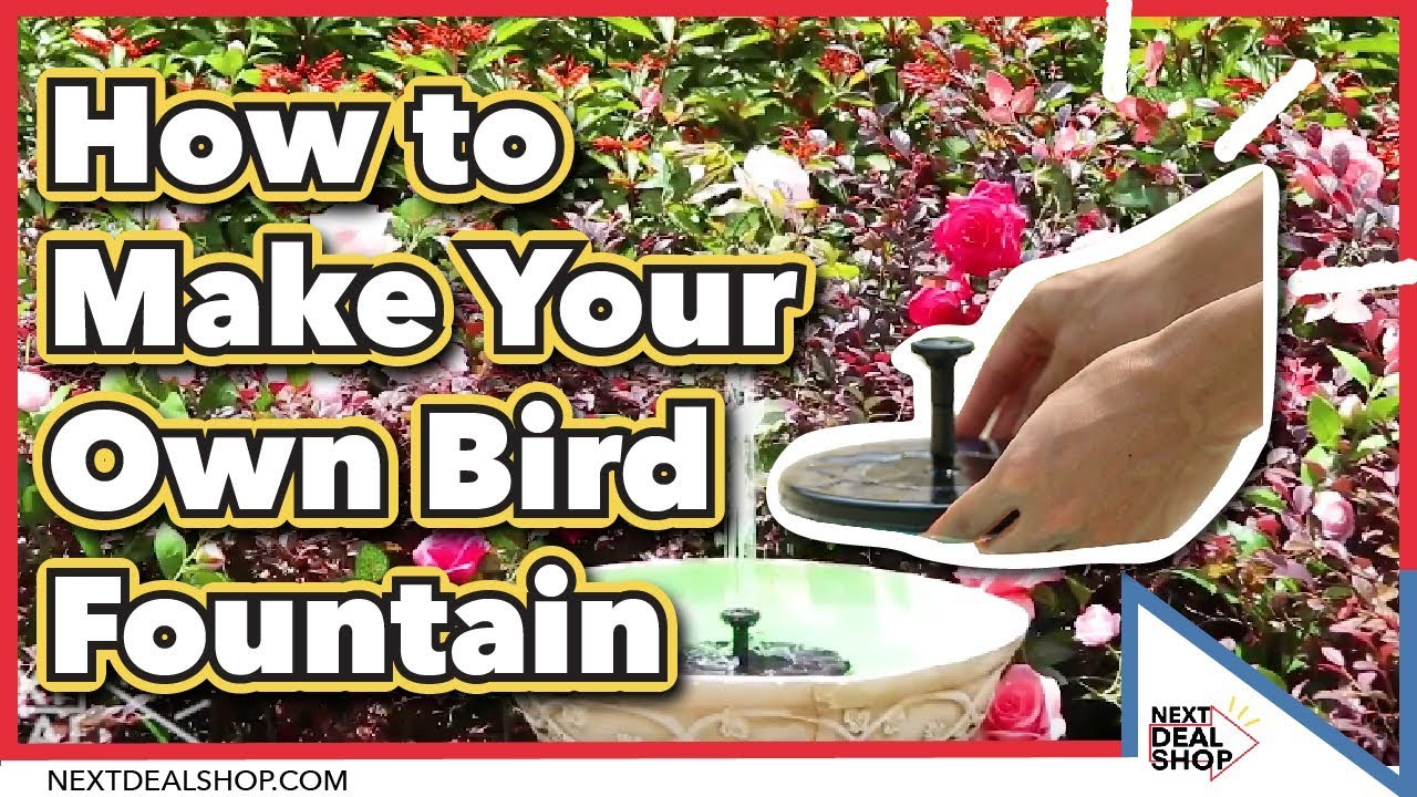 Solar Ed Easy Bird Fountain Kit A Simple Water Feature For The Garden Next Deal