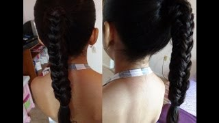 Trenza de Espiga de 4 Lados/4 Sided Fish Tail Braid