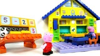 Обзор конструктора Школа Свинки Пеппы (Peppa Pig School Constrution Set)