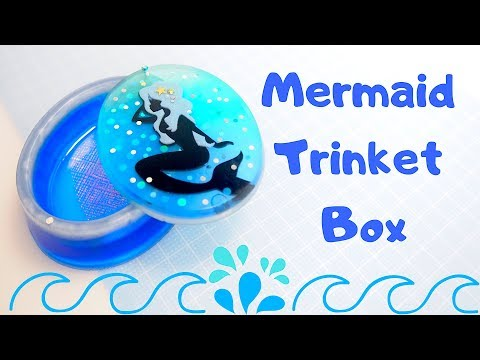 DIY Mermaid Trinket Box with Swivel Lid | Resin Craft