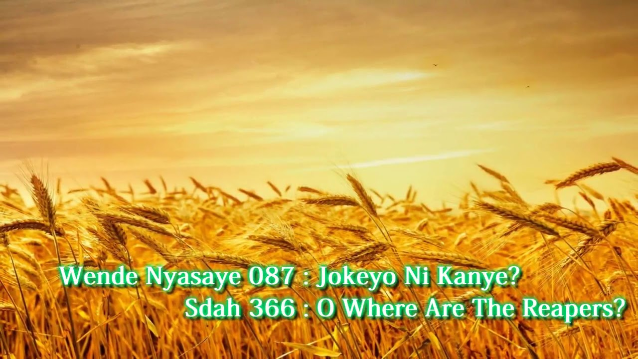 SDA Hymnal Song no 366 ( O Where Are The Reapers?) in Luo - Jokeyo Ni  Kanye? no  87