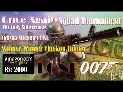 PUBG Mobile Live | Squad Tournament | Win Amazon Voucher Worth Rs:2000