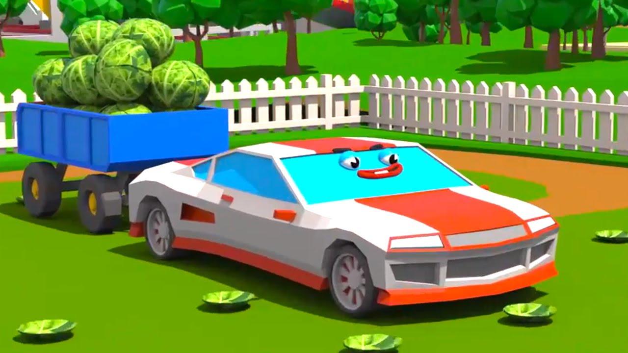 Tracteur VS Voiture de course dans Cars Town - Dessins ...