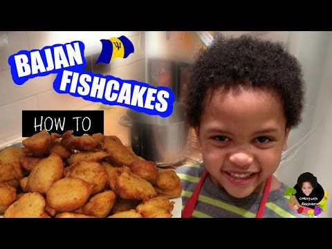 How To Cook Bajan Fishcakes: Cooking With 4 Year Old Alexander