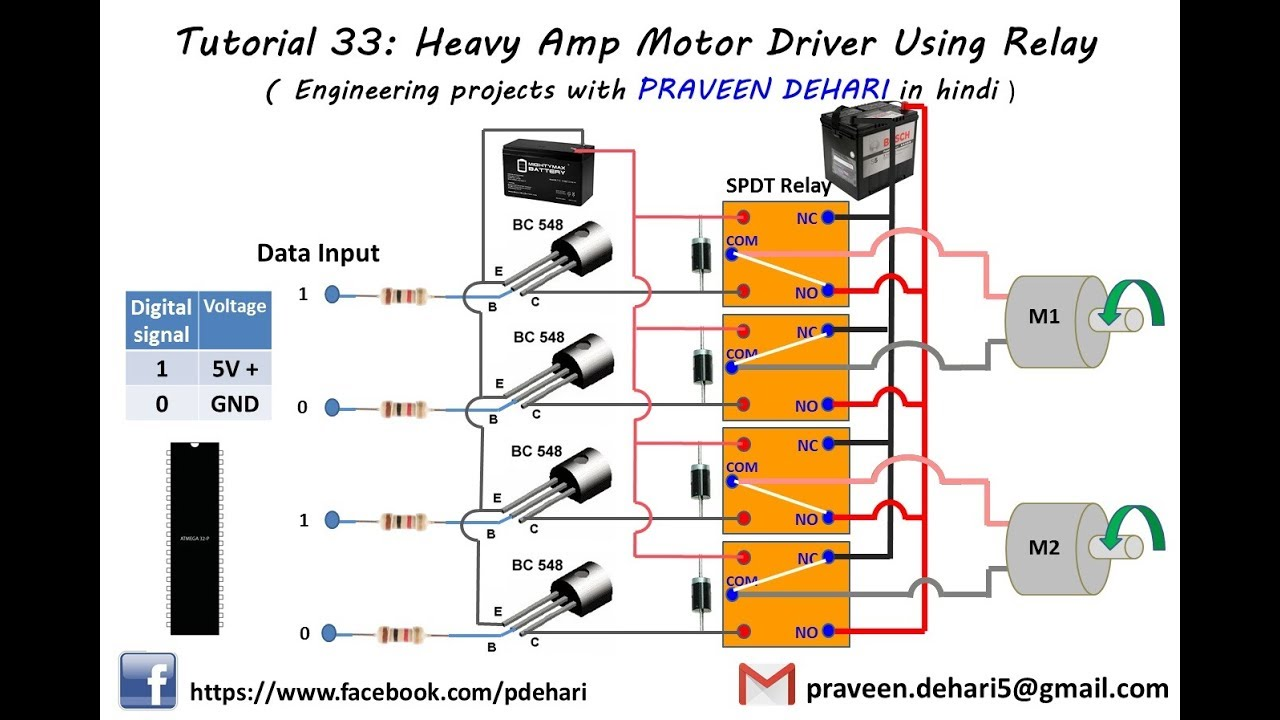 Drive Relay By Digital Circuit Heavy Amp Motor Driver Using Tutorial 33 Youtube