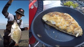 Catch and cook surf perch - Oregon coast surf fishing
