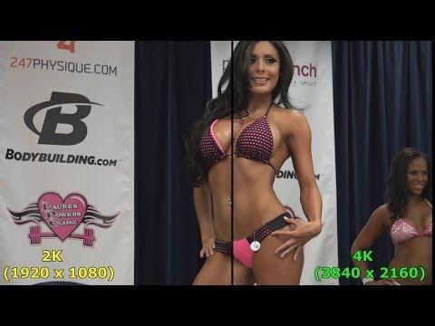4K vs 2K resolution comparison side by side - Bikini Edition