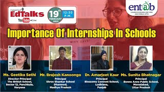 Importance Of Internships In Schools | Educational Webinar For Students & Parents